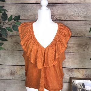 Zara women's linen blouse. Size Large.